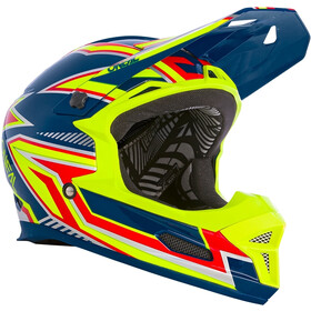 O'Neal Fury Casque Rapid, blue/neon yellow